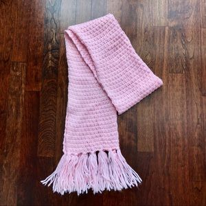 Baby Pink Knit Scarf
